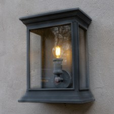 English Coach Wall Lamp Black