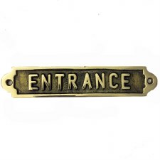Entrance sign Polished Brass