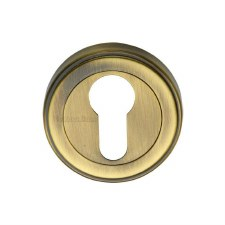 Heritage ERD7020 Euro Profile Escutcheon Antique Brass Lacquered