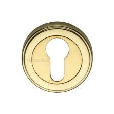 Heritage ERD7020 Euro Profile Escutcheon Polished Brass Lacquered