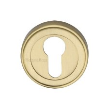 Heritage ERD7020 Euro Profile Escutcheon Satin Brass Lacquered