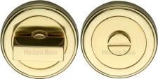 Heritage ERD7030 Bathroom Thumb Turn & Release Polished Brass Lacq
