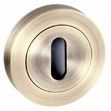 Keyhole Cover Square Edge Ant Brass