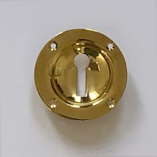 Aston Sunken Escutcheon 57mm Polished Brass Unlacquered