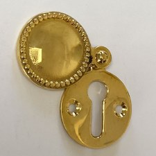 Aston Regency Escutcheon Polished Brass Unlacquered
