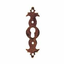 Vertical Escutcheon Antique Brass