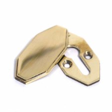 Art Deco Covered Escutcheon Polished Brass Unlacquered