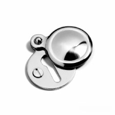 Samuel Heath Classic Round Covered Escutcheon Polished Chrome