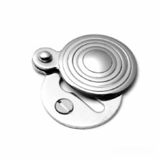 Samuel Heath Contour Round Covered Escutcheon Satin Chrome