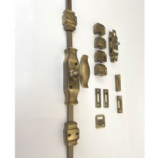 Aston Espagnolette Bolt with Handle Antique Brass Unlacquered