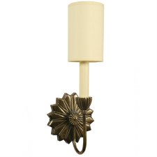 E'toile Single Wall Light, Light Antique Brass