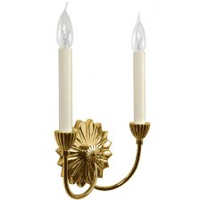 Etoile Twin Light Wall Light Polished Brass Unlacquered