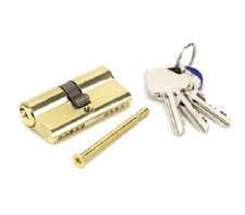From The Anvil Euro Lock Cylinder 30/30 Polished Brass Key Differ