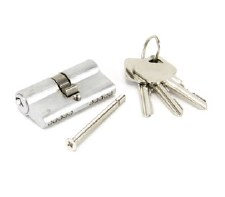 From The Anvil Euro Lock Cylinder 30/30 Satin Chrome Key Differ
