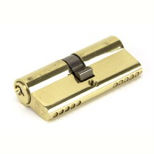 From The Anvil Euro Lock Cylinder 35/35 Polished Brass Key Alike