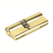 From The Anvil Euro Lock Cylinder 35/45 Polished Brass Key Alike