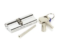 From The Anvil Euro Lock Cylinder 35/45 Polished Chrome Key Differ