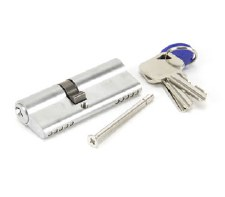 From The Anvil Euro Lock Cylinder 35/45 Satin Chrome Key Differ