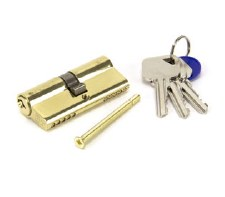 From The Anvil Euro Lock Cylinder 35/35 Polished Brass Key Differ