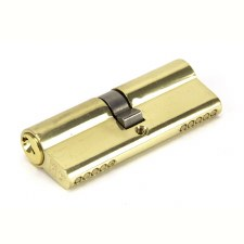 From The Anvil Euro Lock Cylinder 40/40 Polished Brass Key Alike