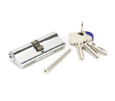 From The Anvil Euro Lock Cylinder 40/40 Polished Chrome Key Differ
