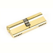 From The Anvil Euro Lock Cylinder 45/45 Polished Brass Key Differ