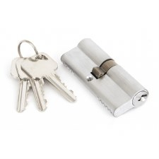 From The Anvil Euro Lock Cylinder 40/40 Satin Chrome Key Differ