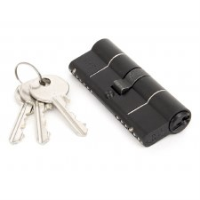 From The Anvil Euro Lock Cylinder 40/40 Black Keyed Alike