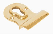From The Anvil Euro Door Pull Polished Brass