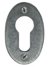 From The Anvil Oval Euro Escutcheon Pewter