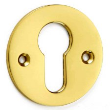 Croft Euro Profile Escutcheon 4573 Polished Brass Unlacquered