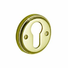 Victorian 618PY Euro Prof Escutcheon Polished Brass Unlacquered