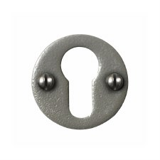 Stonebridge Euro Round Escutcheon Armor Coat Satin Steel