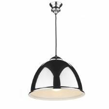 David Hunt EUS0122 Euston Ceiling Pendant Light Polished Chrome Black Cord