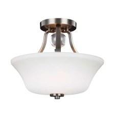 Feiss Evington Semi Flush Light Satin Nickel