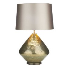David Hunt EVO4335 Evora Table Lamp Base Gold Glass