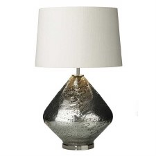 David Hunt EVO4332 Evora Table Lamp Base Pewter Glass