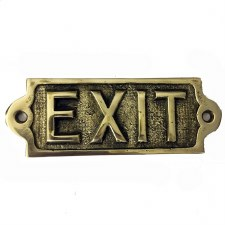 Exit sign Polished Brass