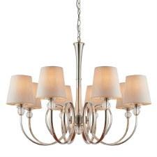 Interiors 1900 Fabia 8 Light Pendant Marble Shades 74429