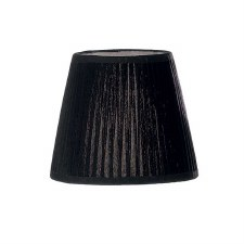 Candle Clip Lampshades Large Pleated Black