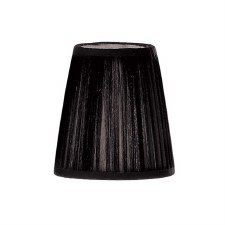 Franklite Candle Clip Lampshades Small Pleated Black