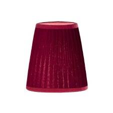 Franklite Candle Clip Lampshades Small Pleated Burgundy