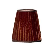 Franklite Candle Clip Lampshades Small Pleated Coffee