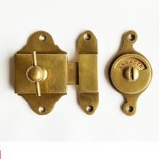 Falken Privacy Indicator Bolt - Antique Satin Brass