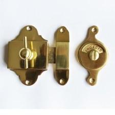 Falken Privacy Indicator Bolt - Polished Brass