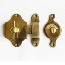 Falken Privacy Indicator Bolt - Renovated Brass