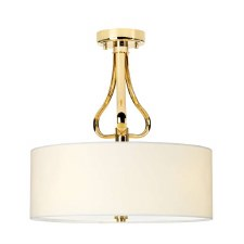 Elstead Falmouth Bathroom Semi Flush Light French Gold