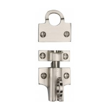 Heritage Fanlight Catch V1117 Satin Nickel