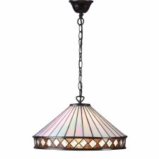 Interiors 1900 Fargo Tiffany Large Ceiling Light Pendant