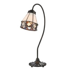 Interiors 1900 Fargo Tiffany Swan Table Lamp 74344